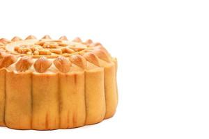 Mid-Autumn Festival moon cake on white background. (The chinese