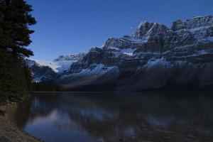 Bow Lake in the Full moon photo