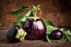 Composition with Three Eggplants, still life photo