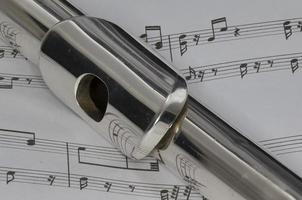 Flute on Sheet Music