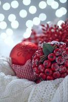 Christmas decoration with balls and snowflake