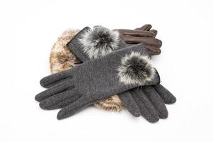 gloves isolated on a white photo