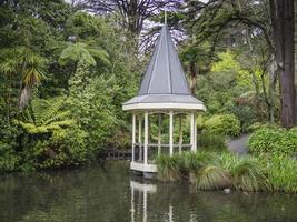 Gazebo By A Pond