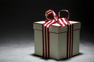 christmas package with decorative tape