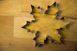 Snowflake shaped dough cutter