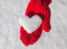 snowflake in the form of heart