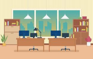 Office Background for Virtual Meeting vector