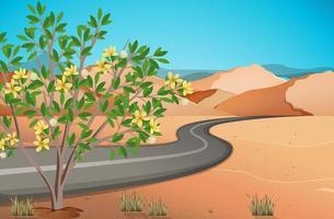 paisaje desértico salvaje en la escena diurna