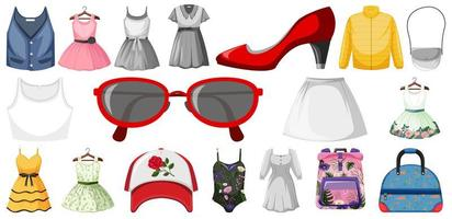 Set of Clothing Mock Up vector