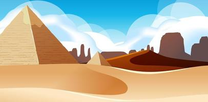 Wild Desert Landscape at Daytime Scene