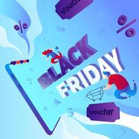 Black Friday Shopping Sale vector