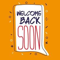 Welcome back after pandemic