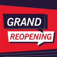 Grand reopening we are working again