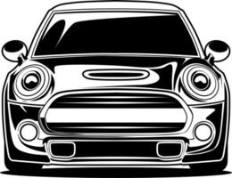 Black and white car front drawing
