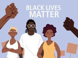 las vidas negras importan con las chicas chico