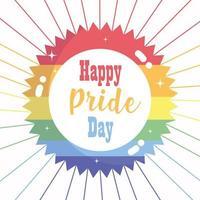 Happy pride day rainbow star design