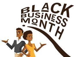 mes de negocios negro