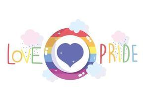 Love pride rainbow design  vector