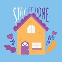 Coronavirus messages. Stay at home