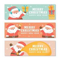 Cute Chubby Santa Holding Gifts and Celebrate Christmas