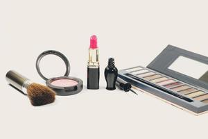 Group of makeup cosmetics