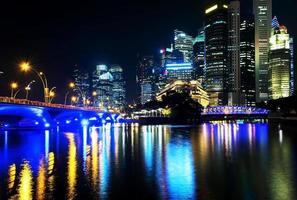 Colorful of night cityscape photo