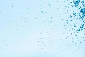 Bubbles in blue water background