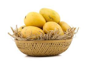 Mangos in a basket photo