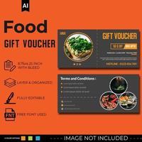 Multipurpose food discount voucher design set vector