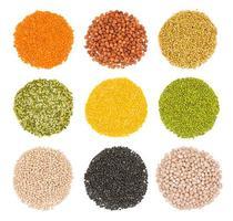 colección de varias semillas saludables.