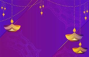 Purple Gradient Deepavali Background