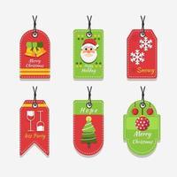 Wonderful Christmas Theme Label vector
