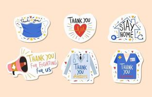 Thank You Healthcare Sticker Pack