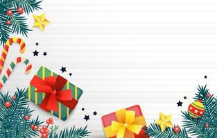 Christmas Concept on White Wooden Table vector