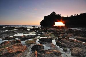 Sunset at Pura Bolong, Tanah Lot.