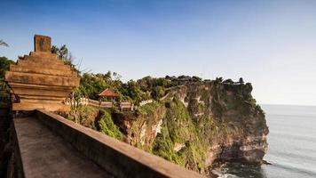 view of a cliff at Uluwatu temple, Bali Indonesia.