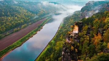 View from viewpoint of Bastei in Saxon