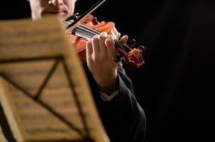 Solo violin performance