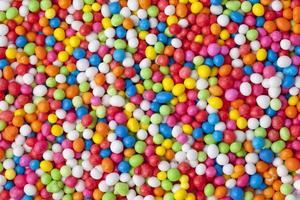 Fondo de decoración de pastelería de difusión de azúcar dulce foto