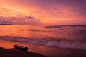 Vibrant tropical sunset at Bali indonesia