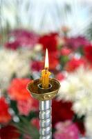 Toplovsky Holy Paraskeevsky convent. A candle is in  chapel photo