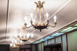 chandelier with candles photo