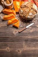 Loaf of sourdough pumpkin bread
