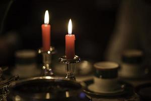 Christmas Silver Candlesticks photo