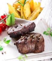 Delicious beef steaks