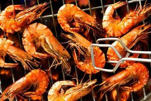 Grilled prawns photo