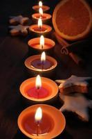 luz de las velas de navidad