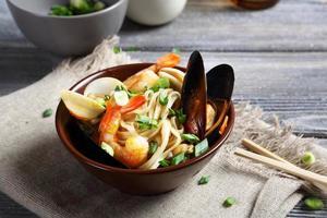 noodles in a bowl photo