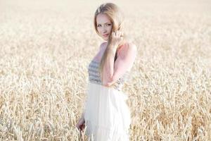 woman in Grain field photo