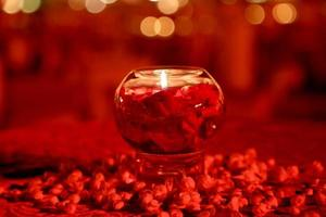 Christmas candle and decorations - Stock Image photo